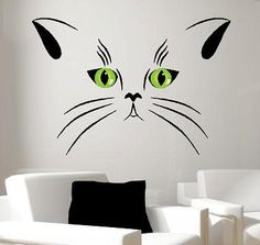 Cat Portrait Vinyl Lettering  animal Decal by itswritteninvinyl, $40.00