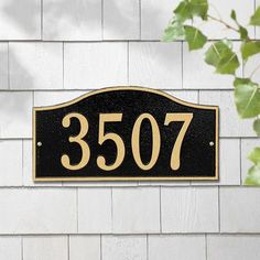 Whitehall Products Rolling Hills Address Plaque Finish: Pewter and Silver