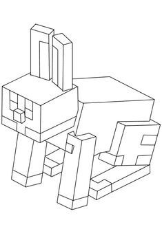 Rabbit - high-quality free coloring from the category: Minecraft. The Effective Pictures We Offer Minecraft Coloring Pages, Star Coloring Pages, Bunny Coloring Pages, Unicorn Coloring Pages, Free Coloring Sheets, Free Printable Coloring Pages, Coloring Pages For Kids, Printable Pictures, Creative Skills