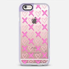 XOXO / Hearts (Transparent) - New Standard Pastel Case in Lavender Violet by Ylfa Gronvold Illustrations | @casetify