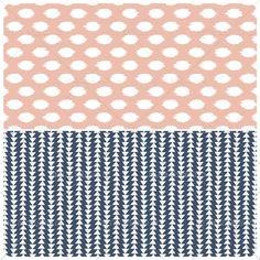 Navy & Pink Seamless Patterns Digital by PrettySplendidCo