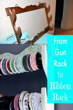 This is great for craft room storage ~ from gun rack to ribbon rack