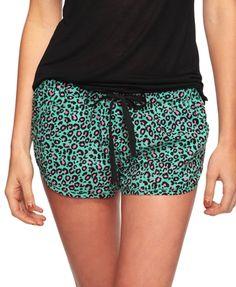 Leopard Woven PJ Short - StyleSays