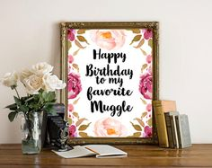 Harry Potter Birthday, Printable Birthday Card,Happy Birthday Greeting Card,  Harry Potter Printable Card, Instant Download by boutiqueprintart on Etsy