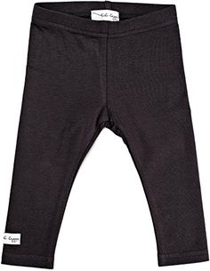 Lil Leggs Unisex Boys Girls Cotton Leggings  Ebony 18 Months -- Click image to review more details. (This is an affiliate link and I receive a commission for the sales) #BabyClothing