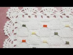Fiyonklu Bebek Battaniyesi Modeli - YouTube Knitted Baby Blankets, Knitted Afghans, Baby Blanket Crochet, Crochet Baby, Ribbed Crochet, Diy Crochet, Baby Knitting Patterns, Crochet Patterns, Diy Crafts Knitting