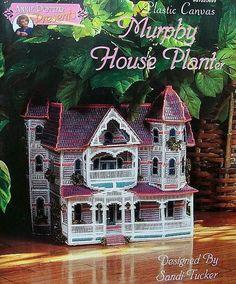 Plastic Canvas Murphy House Planter  Patterns  #AnniePotterPresents