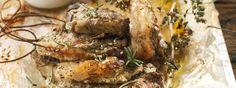 INGREDIENTS 16 lamb chops  Juice of 1 lemon  8 tbsp yogurt Total  4 Tbsp mastic liqueur  1 tsp thyme  1 tsp oregano  1 tsp rosemary  , chopped 4 cloves garlic  6 Tbsp olive oil  Salt and pepper