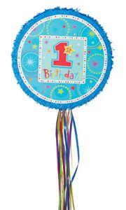 BOYS Birthday Pull String Pinata for sale online 1st Birthday Games, Birthday Pinata, 1st Birthday Party Supplies, Pinata Party, Kids Party Supplies, 1st Birthday Parties, Birthday Ideas, Party Themes For Boys, Get The Party Started