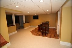 Basement Remodeling Project in Northborough, MA traditional basement