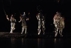 """marionetas  """"Tempeste"""" (fragmentación sensitiva de La Tempestad de Shakespeare)  Dirección: Pepe Márquez Concepción visual, escenografías dinámicas y vestuario: Azul Borenzstein.  Natalia Kravetz: realización de escenografías dinámicas y vestuarios."""