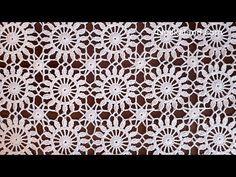 Crochet easy Motif for shawl Part 1 - YouTube
