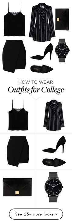 """Black and Business"" by lovelylexluther on Polyvore featuring Miss Selfridge, Zimmermann, MANGO, PrimaDonna, Victoria Beckham and allblackoutfit"