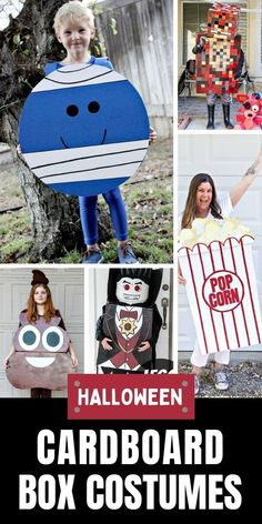 Halloween Costumes You Can Make With a Cardboard Box | Tonya Staab Sewing Projects For Beginners, Diy Projects, Do It Yourself Costumes, Halloween Costumes You Can Make, Fun Crafts, Crafts For Kids, Make Paper Beads, Cardboard Box Crafts, Tote Bags Handmade