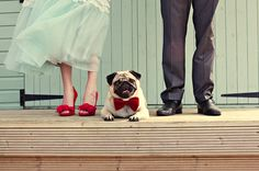 wedding photo idea teal and red