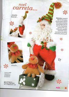 REVISTA PAÑO LENCY FIELTRO NAVIDAD 241 Holiday Crafts, Holiday Decor, Christmas Decorations, Christmas Ornaments, Happy Halloween, Maya, Christmas Stockings, Gingerbread, Snowman