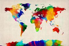 simple map of the world printable | Map Of The World Map Poster By Michael Tompsett
