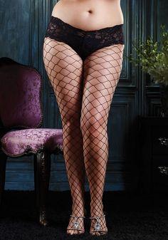Diamond Net Pantyhose with Lace Boy Short Top | #eBay finds