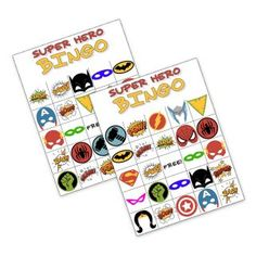 Free Printable Superhero Bingo