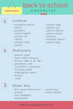 Back to school checklist - grab the free printable back to school checklist over at Daisies & Pie