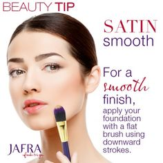 "How to avoid making your ""peach fuzz"" visible when you apply foundation… http://jafra.me/4c4g"