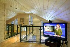 Inside a Finnish, Finland. Wooden house: living room (Rovaniemi Log House: www.loghouse.fi )