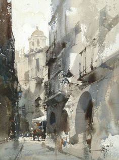 Chien Chung-Wei Plein air and demo by Chien Chung Wei's Workshop , Girona 2016. With Enjoy Painting Catalonia