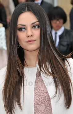 mila kunis long hairstyles 2013