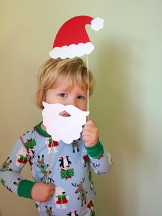 Christmas photo booth props for children