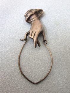 Vintage Sterling Silver Hand Charm Holder Pendant