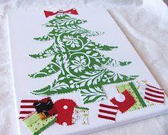 Christmas Tree Canvas...Easy Art
