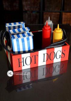 Hot Dog vendor Costume Homemade Vendor Box #michaelsmakers