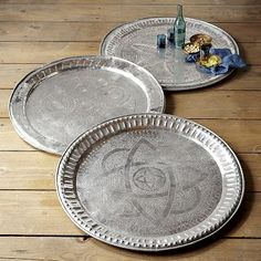 Shop moroccan tray from west elm. Find a wide selection of furniture and decor options that will suit your tastes, including a variety of moroccan tray. Moroccan Party, Moroccan Decor, Moroccan Style, Modern Moroccan, Decorative Objects, Decorative Accessories, Metal Trays, Stencil Diy, Ideas