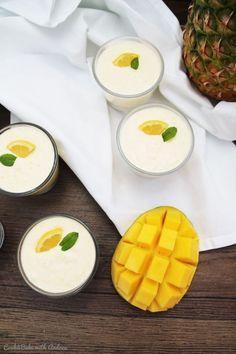 Exotische Mousse mit Mango und Ananas