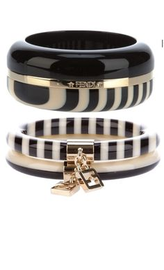 Black and White Fendi Bracelets