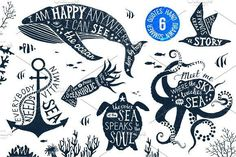 Ad: 6 hand drawn summer quotes by handsketched on Set of hand drawn summer lettering designs 23 files. EPS hi-res JPG files x min 5000 72 pixels/inch) + PNG separated designs with Hand Drawn Lettering, Lettering Design, Pencil Illustration, Graphic Illustration, Summer Quotes, Silhouette Vector, Creative Sketches, Paint Markers, Business Card Logo