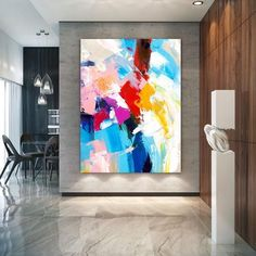 Extra Large Wall Art on Canvas, Original Abstract Paintings , Contemporary Art, Mdoern Living Room Decor ,Office Oversize Artworks Large Abstract Wall Art, Floral Wall Art, Canvas Wall Art, Abstract Paintings, Wall Art Prints, Canvas Paintings, Canvas Walls, Bathroom Paintings, Large Painting