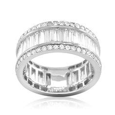 18CT WHITE GOLD DIAMOND RING LOLA ROSSA JEWELLERY