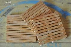 mini pallets from paddle pop sticks for set model, if I decide to go that way.