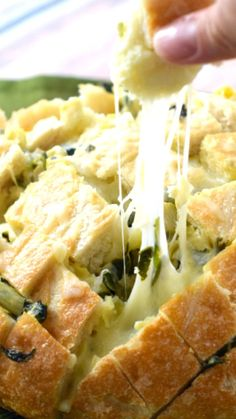 Spinach Artichoke Pull Apart Bread ~ is everything you love about the dip in delicious carb loving form!