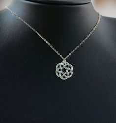 All Sterling Silver Celtic Necklace, Celtic jewelry, Celtic Knot,  minimalist jewelry, sterling jewelry by Beautiful2u on Etsy https://www.etsy.com/listing/107487994/all-sterling-silver-celtic-necklace