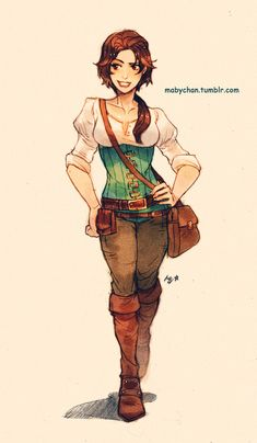 Tangled gender bender (I like to think this is what Rapunzel would look like if she joined Flynn on adventures)