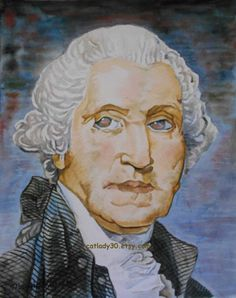 Water Color : George Washington watercolor print. by CatLady30
