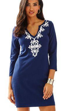 08d3896e9d2 Marina 3 4 Sleeve T-Shirt Dress. Navy DressDress LillyDressy ...