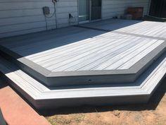 Trex Deck in Foggy Wharf Enhance and Pebble Gray Select