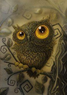 'Too Much Owls ? Nooooo!' by Nastik OrangeCat