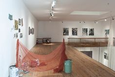 Installation view. 'But he doesn't have anything on!' Loft, Sculpture, Bed, Furniture, Home Decor, Decoration Home, Stream Bed, Room Decor, Lofts