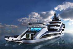 Le Selazzio, le superyacht d'Icon Yacht avec une piscine-écran géant