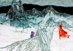 Daniel Richter; wie Phantome in einer Eislandschaft...