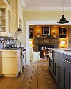 Cream and grey kitchen
